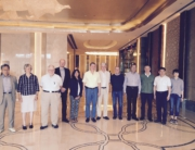 Left to right: Joos Droogleever-Fortuijn, Ron Abler, Jarkko Saarinen, Elena dell'Agnese, Vladimir Kolosov (President), Dieter Soyez, Mike Meadows (Secretary-General), RB Singh, Iain Hay and Zhou Chenghu