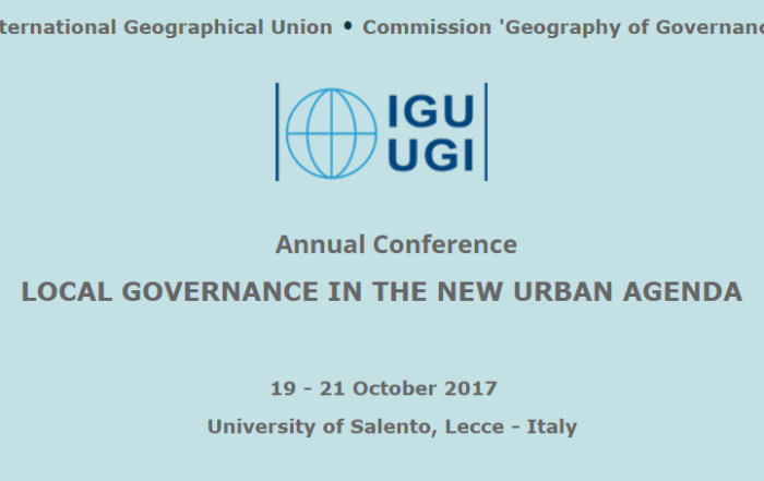 Geography of Governance conference 2017