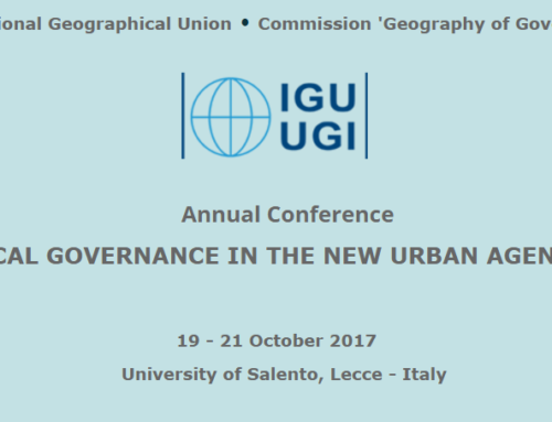 IGU Commission 'Geography of Governance' 2017 Annual Conference