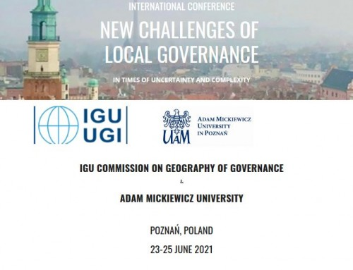 IGU Commission Geography of Governance 2021 Annual Conference